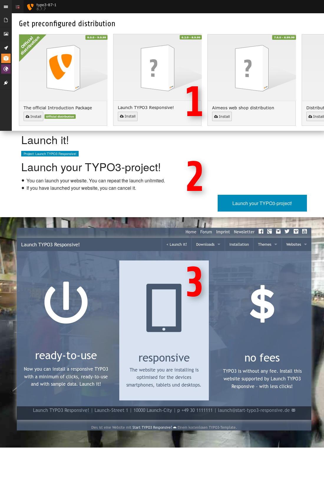 Launch TYPO3 Responsive!: Mit TYPO3 schnell mal eine Website vom ...