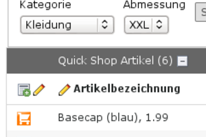 Backend-Filter in TYPO3: Symbolbild