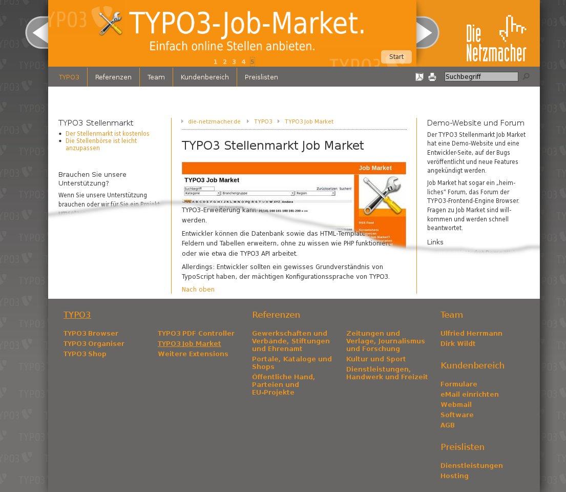 Die schlaue TYPO3 Sitemap: Netzmacher veröffentlichen TYPO3 autositemap